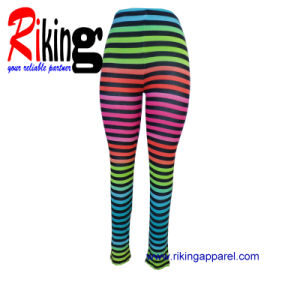 Fashion Ladies Garment Stripes Trousers (RKTR1381)