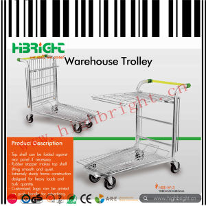 Nestable Metal Warehouse Cargo Trolley Cart pictures & photos