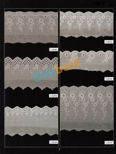Different Designs High Quality Beautiful Cotton Embroidery Lace for Decoration pictures & photos