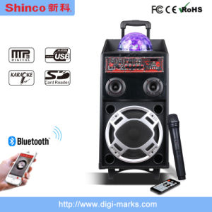 """Hot Sale Trolley 15""""Loud Woofer with Chramatic Lamp Speaker pictures & photos"""