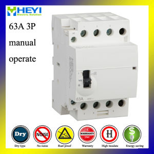 Home Use AC Modular Contactor with OEM 63A 3p Manual Operate pictures & photos