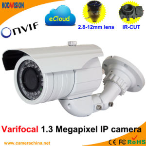 Varifocal IR 1.3 Megapixel Onvif P2p Network IP Camera(2.8-12mm pictures & photos
