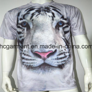 Man′s Short Sleeve T-Shirt, 3D /Sublimation Printed T- Shirt pictures & photos