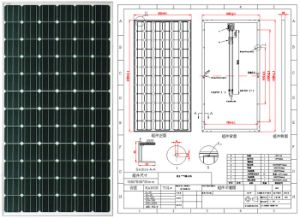 18V 36V 190W 195W 200W 205W Monocrystalline Solar Panel PV Module with Ce Approved pictures & photos