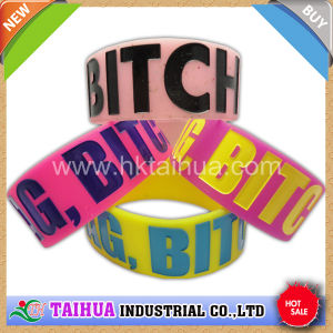 Hot Custom One Inch Wristband Silicone pictures & photos