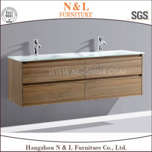 N&L 2017 Wall Mounted MDF Bathroom Vanity with Melamine pictures & photos