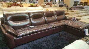 Brown Sofa, L Shape Corner Sofa, Living Room Sofa (985) pictures & photos