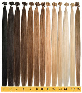 100% Indian Remy V Tip Human Hair Extension pictures & photos