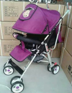 Baby Stroller Suspension Wheel Function with Big Basket