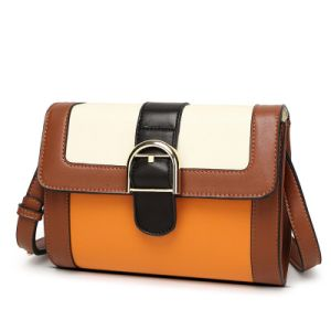 Desinger Contrast Women Sling Messenger Clutch PU Lady Hand Bag pictures & photos