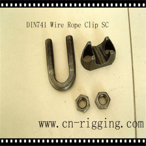 Self Color Wire Rope Clip for Wire Rope Loop DIN741 pictures & photos