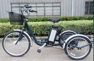 Front 24 Inch Rear 20 Inch 3 Wheel Handicapped Electric Tricycle for Sale pictures & photos
