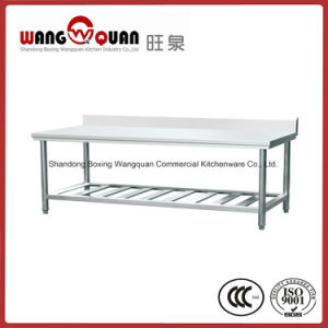 Customized Size Stainless Steel Work Bench 2 Tier with Splashback pictures & photos