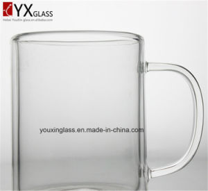 Big Volume Double Wall Glass Cup/Borosilicate Drinking Glass Beer Mug/New Style Heat Resistant Glassware pictures & photos