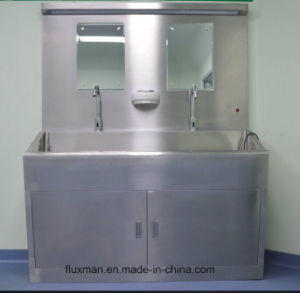 Two Sink Hospital 304 Stainless Steel Hand Wash Sink