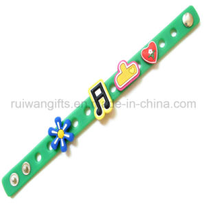 Charming PVC Rubber Bracelet Souvenir (BR026) pictures & photos