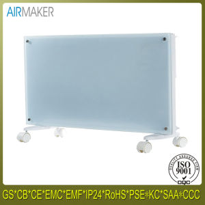Colorful Glass Panel Heater with Wheel Over Heat Protection pictures & photos