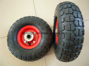 High Quality Best Price 10 Inch Pneumatic Rubber Wheel pictures & photos