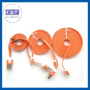 3m Flat Micro USB Charger Cable for Samsung S4 pictures & photos