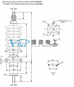 20kv Bushing Used on Distrbution Transformer (Conductive rod) pictures & photos