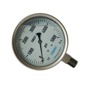 4.5inch-115mm Full Stainless Steel Bottom Pressure Manometer pictures & photos