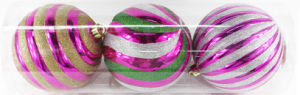 15cm Christmas Ball in PVC Tube with 3PCS