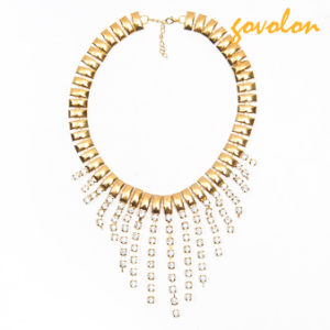 New Fashion Golden Alloy Necklace with Fringe pictures & photos