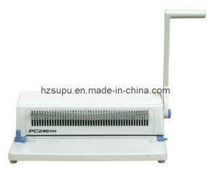 Manual Spiral Plastic Ring Coil Binding Machine (PC246PLUS) pictures & photos