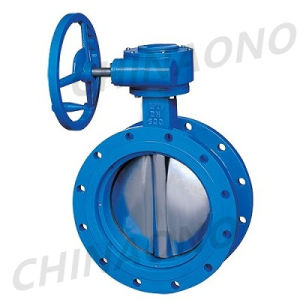 Soft Seal Cast Iron Wafer Butterfly Valve with Gear pictures & photos