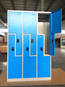 Pad Lock Z Shape 6 Compartment Metal Locker Furniture pictures & photos