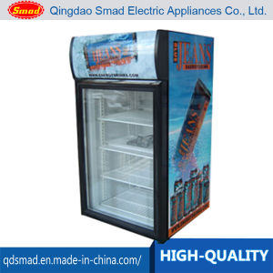 Wholesales Price 68L Glass of Door Display Showcase with Lamp Type pictures & photos