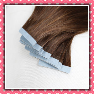 Factory Price Remy Human Hair Skin Weft Silky 14inches pictures & photos