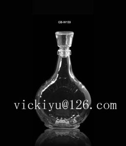 500ml Tequila Glass Bottle Glass Wine Bottle with Cap pictures & photos