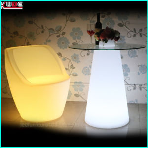 Illuminated Table with Glass Top pictures & photos