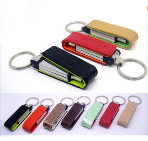 Promotional Gift Promotional Leather USB Flash Drive pictures & photos