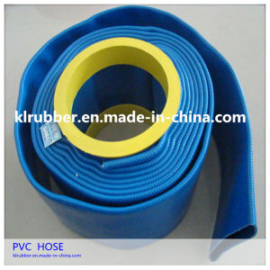 Plastic-Coated PVC Flexible Layflat Discharge Water Hose pictures & photos