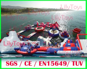 Water Park Game, Inflatable Water Floating Park, Lake Water Park