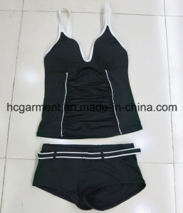 Sexy Black Two-Pieces Swimwear for Woman/Lady, Beachwear pictures & photos