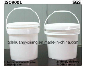 5L White Food Grade Square Packaging Plastic Pail