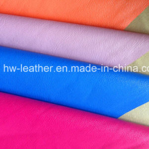 Fashion PU Leather for Garment Hw-140925 pictures & photos