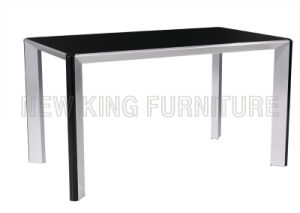 Modern Classic Temper Glass Top with Stainless Steel Foot Dining Table (NK-DT032)