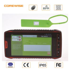 China Manufacturer Rugged Andorid Handheld Smart Mobile Phone with Barcode Scanner/ Fingerprint / IC Card/ NFC/ Hf UHF RFID Reader Writer (Optional) - Cfon640 pictures & photos