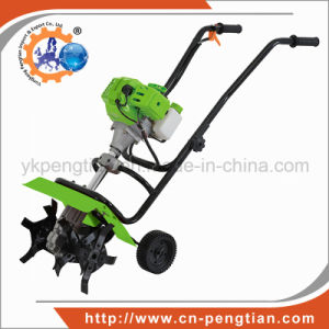 52cc Mini Tiller Cultivator 2-Stroke Gasoline Engine for Farm Land pictures & photos