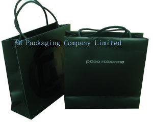 Paper Gift Bag with Handle Glued on The Top pictures & photos