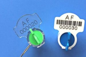 Twist Rotor Electricity Meter Seals with Barcode Poly Carbonate pictures & photos