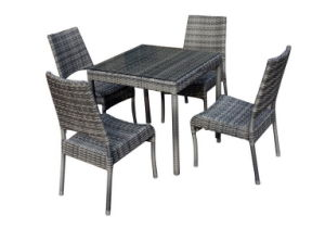 5PCS PE Rattan Dining Set