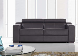 Modern Italy Leather Sofa Bed 746# pictures & photos