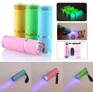 Hot Energy Saving Portable Multifunction UV Ultra Violet 9LED Flashlight Backlight Torch 395nm with Soft Anti Skid pictures & photos