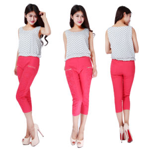 Fashion Casual Pants Lace Tatting Elasticity 7 Minutes of Pants