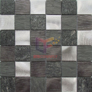 Aluminium with Pattern Mix Quartz and Slate Stone Mosaic (CFA93) pictures & photos